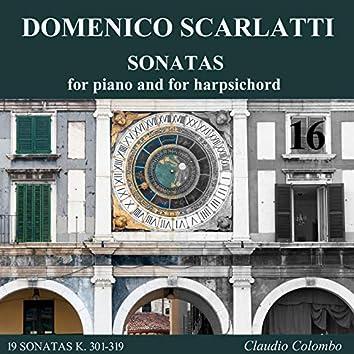 Domenico Scarlatti: Complete Sonatas for Piano and for Harpsichord, Vol. 16