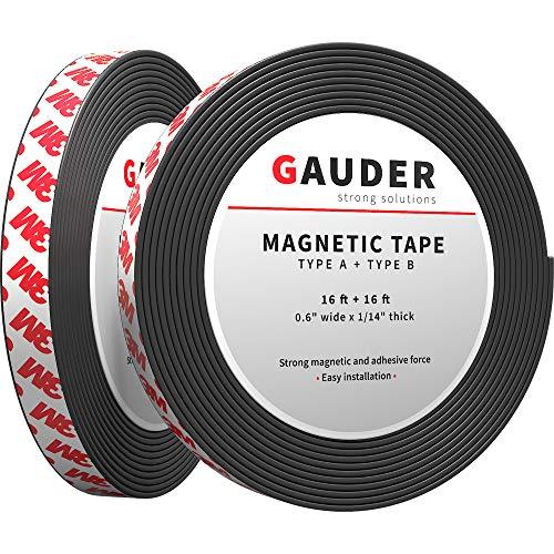 GAUDER Cinta Magnética A + B | Tiras Magnéticas para Mosquiteras | Cinta Magnética Autoadhesiva cara A y B