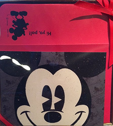 Disney Mickey Mouse Blank Notecards 10 Glitter Cards with Envelopes