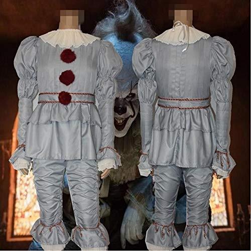 MSSJ Película It Capítulo Dos Disfraz de Stephen King'S Pennywise El Payaso bailarín Cosplay Carnaval Adulto Fiesta de Halloween Terror Fantasía SB