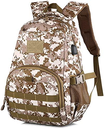 Zaino militare mimetico, zaino per ragazzi adolescenti per la scuola, 40LArmy Bookbag con porta di ricarica USB