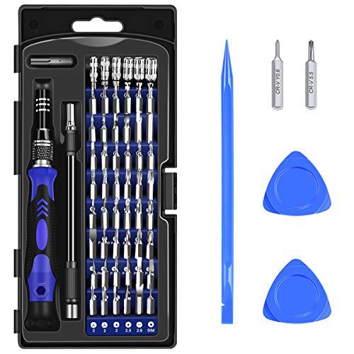 Diyife 63 en 1 Kit Tournevis de Précision Magnétique, 56 Bits Tournevis Outils de Réparation et Plus D'accessoires, pour Téléphone Portable, Tablette, PC, Macbook, Montre etc