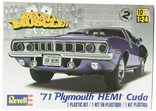 Revell 12943 71 HEMI 'Cuda Hardtop detailgetreuer Modellbausatz, Autobausatz 1:24, Multi
