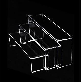 ちくさ 展示台 ディスプレイスタンド アクリル コの字型 3個セット