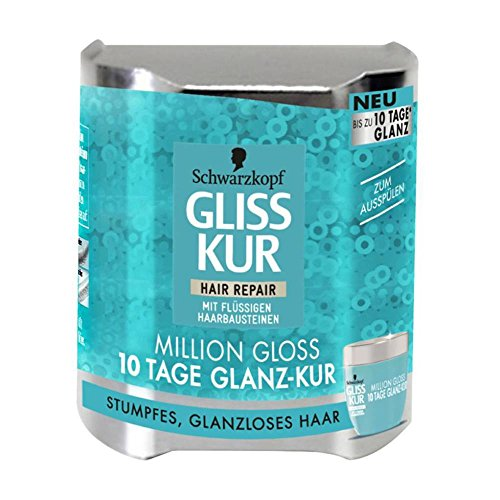 Gliss Kur Hair Repair Million Gloss 10 Tage Glanz-Kur mit flüssigen Haarbausteinen, 4er Pack (4 x 150 ml)
