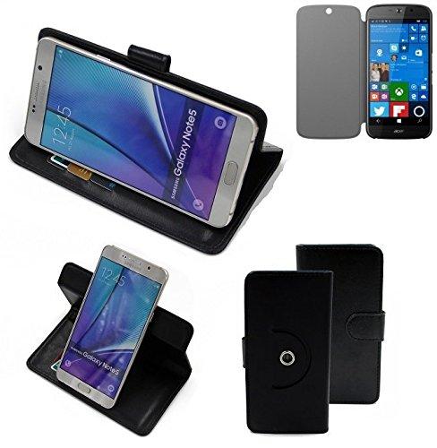 K-S-Trade® Handy Hülle Für ACER Liquid Jade Primo Flipcase Smartphone Cover Handy Schutz Bookstyle Schwarz (1x)