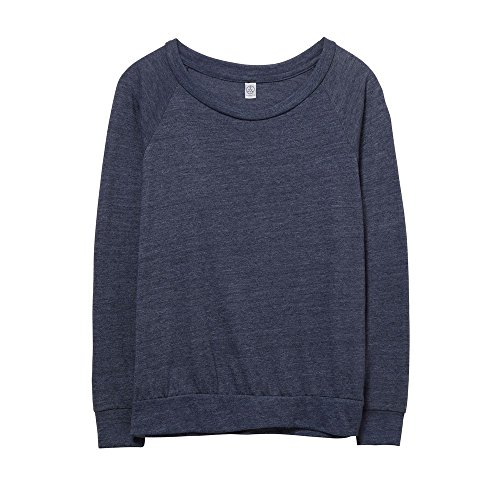 alternative apparel Eco-Jersey Slouchy - Sudadera para Mujer, Mujer, Color Eco True Navy, tamaño Large