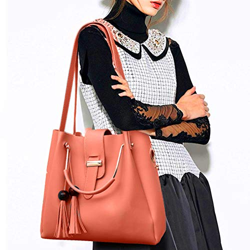 Fargo Women's PU Leather Handbag And Sling Bags Combo Of 3 (BABY PINK_FGO-222)