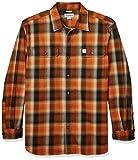 Carhartt big & tall hubbard flannel long sleeve shirt camisa, umber, xxl largo para hombre