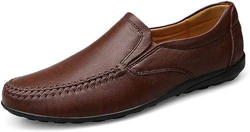 GPF-fei Herrenschuh Leder Faulet Schuhe Loafers Schuhe Driving Schuh Stiefelschuh Runde Schuhe Peas Schuhe Comfortable Fashion Leisure,schwarz,47