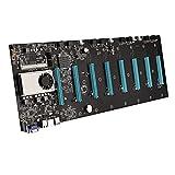 Easyeeasy BTC-S37 Miner Motherboard CPU Set 8 Ranuras para Tarjetas de Video Memoria DDR3 Interfaz VGA integrada Bajo Consumo de energía