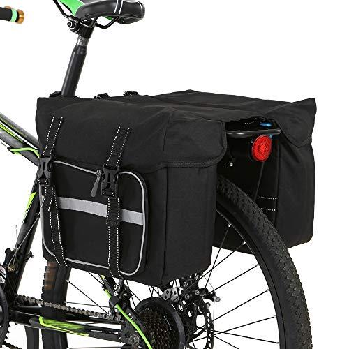 Lixada Fahrradtaschen Gepäckträger Bike Back Pannier Fahrrad Gepäckträgertasche 11.8 * 10.2 * 5.5in