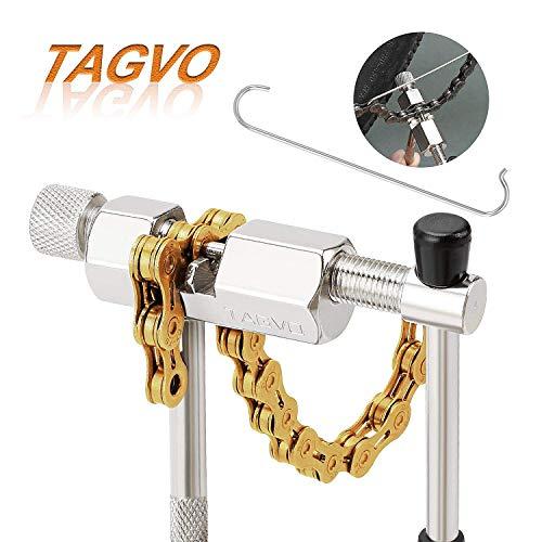 TAGVO gfg45656 Fahrradketten-Werkzeug, Fahrrad-Kettenbrecher, Splitter, Ketten-Reparaturwerkzeug, kompakt und tragbar, Universal