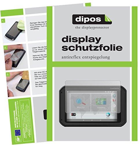 dipos I 3X Schutzfolie matt kompatibel mit Garmin Fleet 790 EU Folie Bildschirmschutzfolie