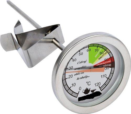 VisioBrands Edelstahl Tee Thermometer 0°C bis 120°C Wasser Tee Tee Wasser Thermometer 100700