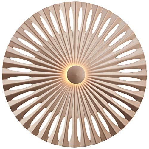 BRILLIANT lamp Phinx LED wandlamp 40cm bruin/koffie |1x 12W LED geïntegreerd, (1282lm, 3000K) |Schaal A ++ tot E |Decoratieve achtergrondverlichting aan de muur of het plafond