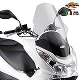 Kappa - Parabrisas Transparente - Medidas 59,5 x 44 cm - Parabrisas Kappa KD322ST específico para Honda PCX 125-150 (del 2010 al 2013)
