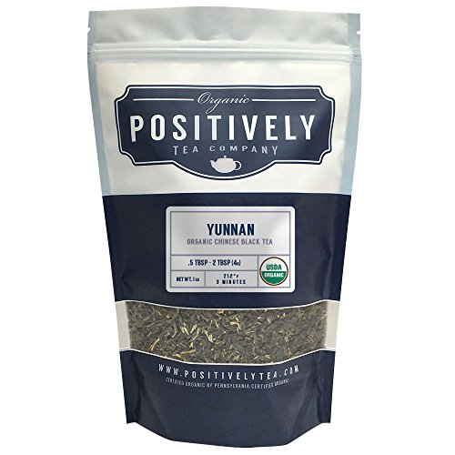 Positively Tea Company, Organic Yunnan, Black Tea, Loose Leaf, 16 oz. Bag