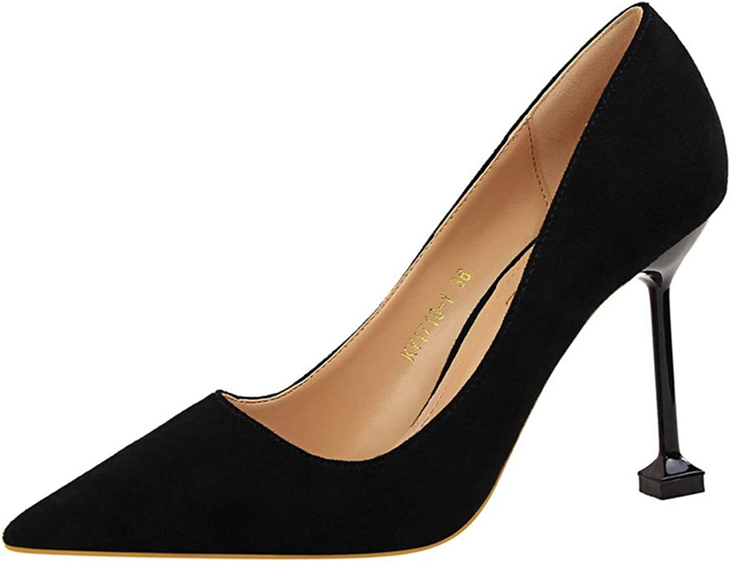 Sam Carle Women Pumps, Sexy Suede Solid color High Thin Heel Pointed Toe Wedding shoes
