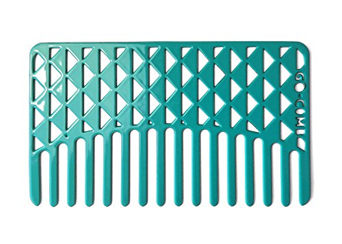 Go-Comb - Wallet Sized Hair Comb - Wide Tooth - Aqua Facets by go-comb