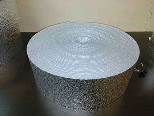 AES 6 x 125 Reflective Foam Core Insulation HVAC Faucet Pipe Air Duct Wrap Roll 1/4