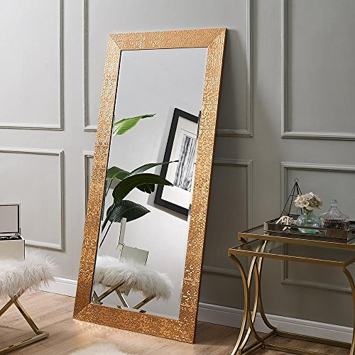 Naomi Home Mosaic Style Full Length Floor Mirror Copper