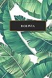 Bolivia: Cuaderno de diario de viaje gobernado o diario de viaje: bolsillo de viaje forrado para hombres y mujeres con líneas