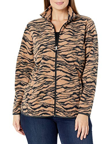 Amazon Essentials Women s Plus Size Full-Zip Polar Fleece Jacket  Animal  4X