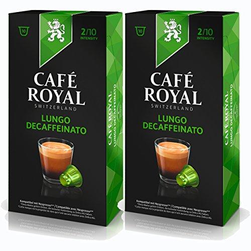 Café Royal Lungo Decaffeinato Kaffee, Röstkaffee, Kaffeekapseln, Nespresso Kompatibel, 20 Kapseln