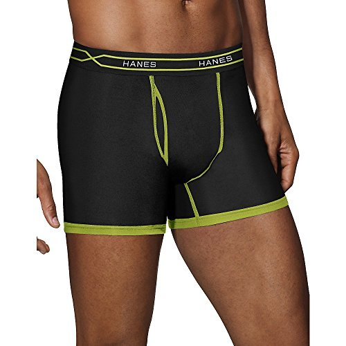 Hanes Men's 3-Pack X-Temp Short Leg Active Cool Boxer Brief, Assorted,...