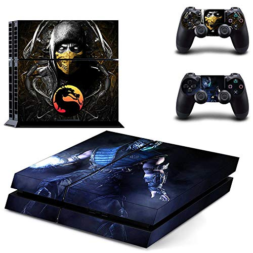 TAOSENG Mortal Kombat Ps4 Skin Sticker Calcomanía para Playstation 4 Consola y 2 Controladores Skins Ps4 Pegatinas Vinilo