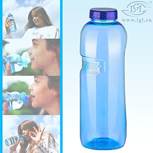 1 Liter Trinkflasche aus Tritan / Wasserflasche / BPA-frei / Sport / Fitness