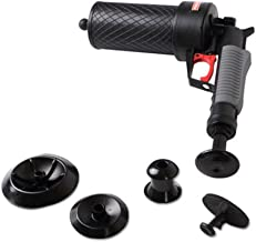 Air Pressure Drain Pump Pipe Dredge Tools, Air Power Drain Blaster, High Pressure Drain Opener for Toilet Bathroom, Suite for Dredging Home Toilet Bathtub Sink with 4 Suckers#5111(Black)