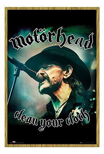Motorhead reinigen Ihr Uhr Lemmy Poster Magnetischer Pinnwand, Eichenholz-Rahmen, 96,5x 66cm (ca. 96,5x 66cm)