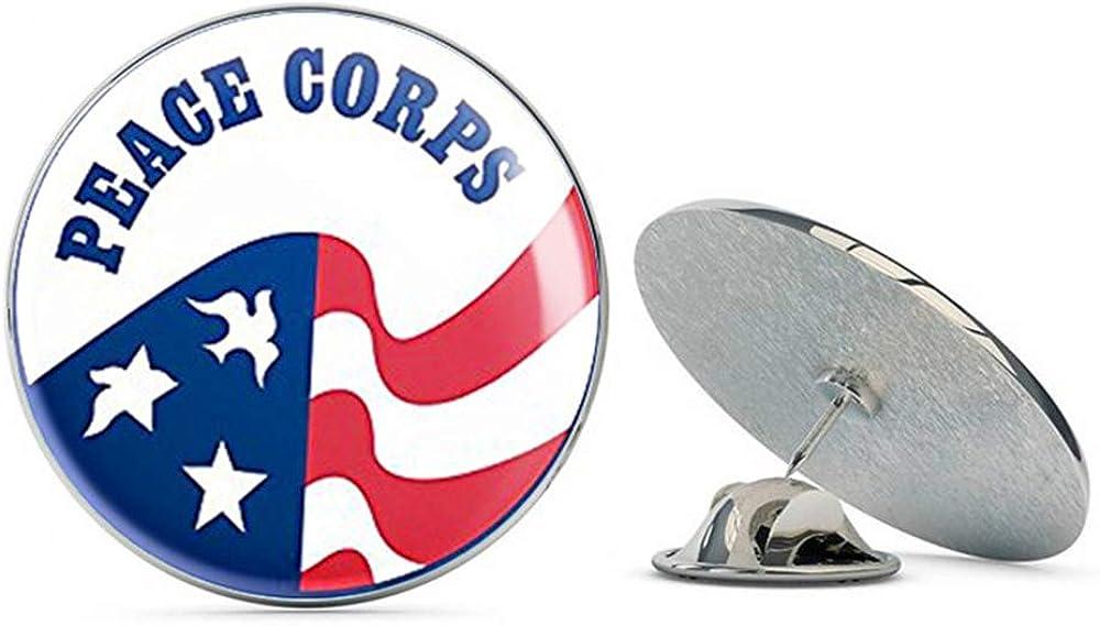 NYC Jewelers Round Peace Corps Logo (Vinyl Insignia Seal) Metal 0.75