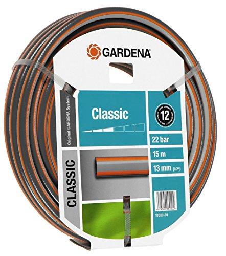 Gardena 18000 tuinslang Classic 1/2 inch, 15 m, grijs, 35,6 x 35,6 x 10,2 cm, gesorteerd Klassieke slang. 35,6x35,6x10,2 cm grijs