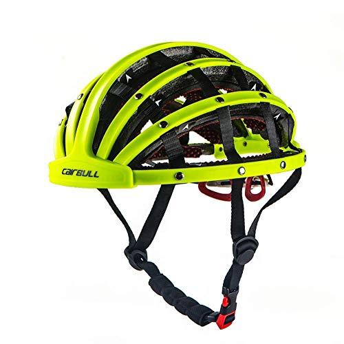 Heemtle Faltbare Fahrradhelm Leichte Einstellbare Tragbare Sicherheit Fahrradhelme City Bike Sport Freizeit Fahrradhelm Grün (Einstellbar: 56 cm-62 cm)