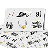 YoHold Wizard Tattoos Temporary with 6 Different Styles of Wizard Tattoos Sticker for Halloween, Wizard Party Supplies Decorations, 6 Sheets 36 Pcs in All