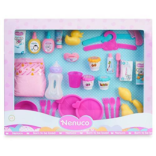 Nenuco-Mega Pack de Accesorios, Todos los Accesorios para cuidar a un muñeco bebé, Regalo Ideal...