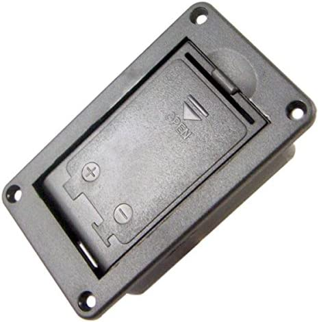 In stock LoveinDIY lowest price 9 Volt Mount Electric Guitar Battery Hold Cover 9V Box