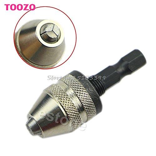 1/4' Keyless Drill Bit Chuck Hex Shank Adapter Converter 0.3mm-3mm Quick Change