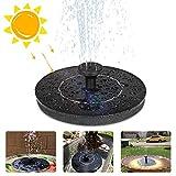 Solar Springbrunnen, 1.2W Garten Solar Springbrunnenpumpe Solar Teichpumpe, Schwimmende Springbrunnenpumpe für Gartendekoration, Vogelbad, Teich, Aquarium, Pool, Wasser Radfahren