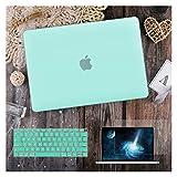 GYY para MacBook Air 11 12 13.3'Cubierta Clara De Cristal para MacBook Air Pro 13 15 16 Touch Barra/Touch ID A2289 A2338 M1 A2159 (Color : Matte Green, Size : A2159 A1706 A1989)