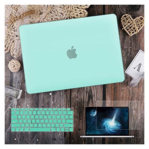 para MacBook Air 11 12 13.3'Cubierta Clara De Cristal para MacBook Air Pro 13 15 16 Touch Barra/Touch ID A2289 A2338 M1 A2159 (Color : Matte Green, Size : Model A1502 A1425)