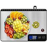 Diyife Balance Cuisine 15 kg, Professionnel Balance de Cuisine Electronique avec Grand Panneau, Balances Alimentaires, Balance de Précision, Tactile Sensible & Écran LCD, Fonction Tare, avec 2 Piles