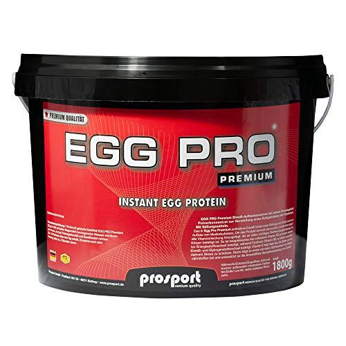 Prosport Egg Pro Premium, 1800g Eimer, Ei Protein-Eiweisspulver, Geschmacksrichtung: Schoko
