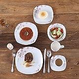 VEWEET Tafelservice 'Annie' aus Porzellan 60 teilig | Kombiservice beinhatlet Kaffeetassen 175 ml, Untertasse, Dessertteller, Speiseteller und Suppenteller| Komplettservice für 12 Personen - 8