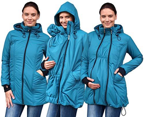 Jozanek Wintertragejacke auch für Schwangere (petroleumblau, XL)