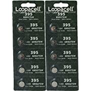 Loopacell 399 / 395 (SR927/W/SW) 1.55V Silver Oxide Watch Battery (10 Batteries)