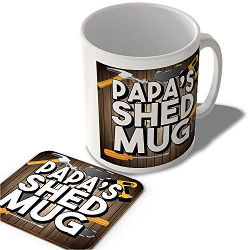 McMug Papa's Shed Mug (Full Background) - Mug and Coaster Set